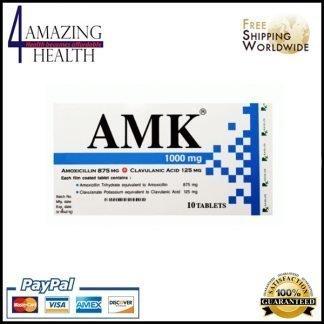 AMK 1000mg Amoxicillin (875 mg) and Clavulanic Acid (125 mg)